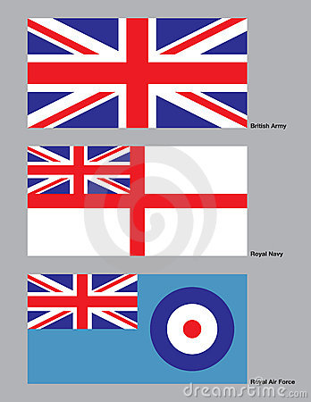 British Military Flags