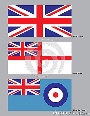 British Military Flags