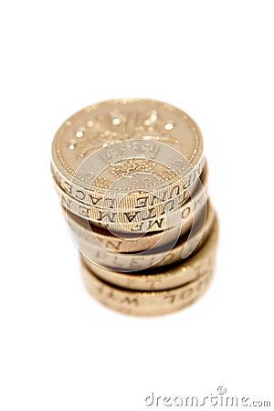 British monety jeden funt