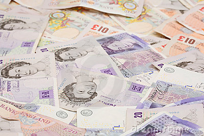 British money background pound notes Editorial Stock Photo