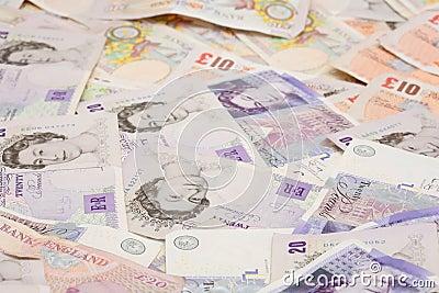 British money background pound notes Editorial Stock Photo