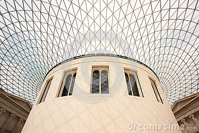 British Museum Architecture Editorial Image