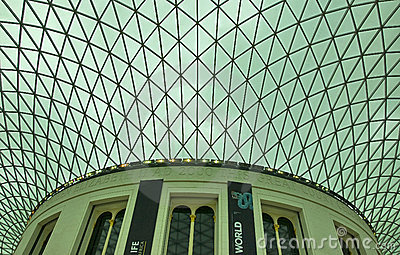 British Museum ceiling Editorial Image