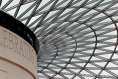 British Museum Dome Editorial Stock Photo