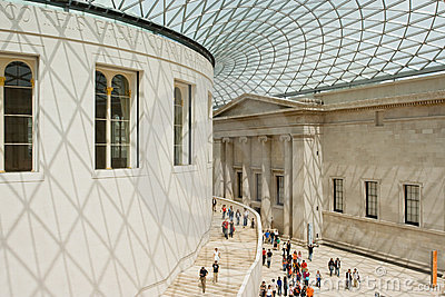 British Museum Great Court Editorial Image
