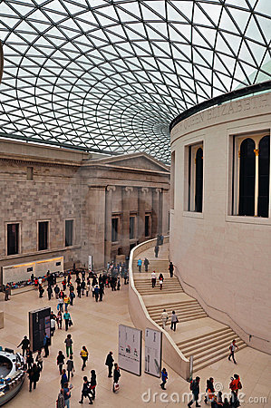 British Museum - The Great Court Editorial Photo