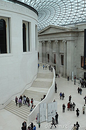 British Museum interior Editorial Stock Photo