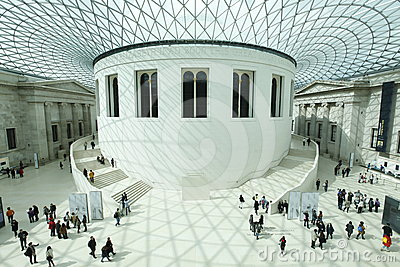 British Museum London Editorial Photography