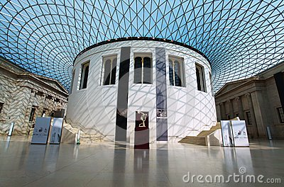 The British Museum in London Editorial Stock Image