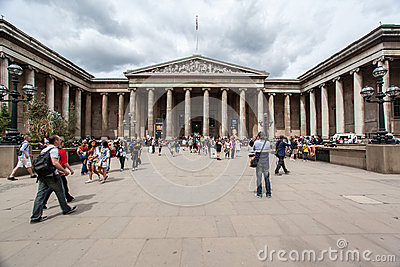 British Museum London England Editorial Stock Image