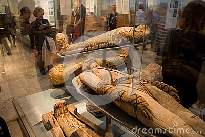 British Museum-mummies Editorial Stock Photo