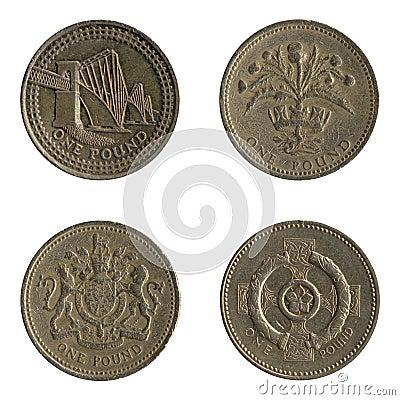 British One Pound Coin Back Designs