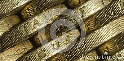 British one pound coins