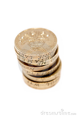 Free British One Pound Coins Stock Image - 7175701