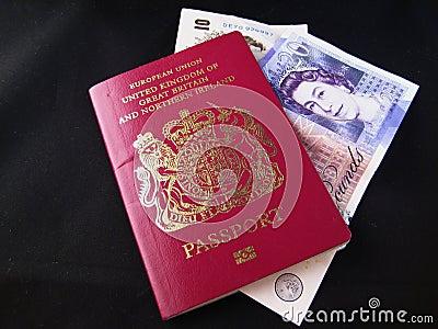 British Passport and money