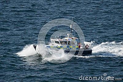 British Police Patrol Boat in Gibraltar