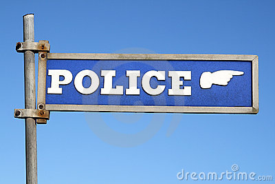 British police sign