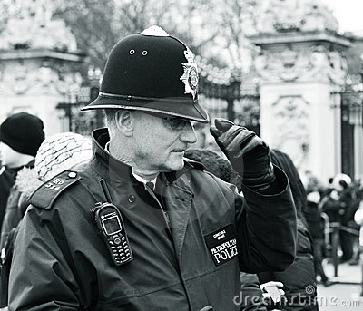 British policeman Editorial Photography