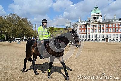 British policeman on horseback Editorial Photo