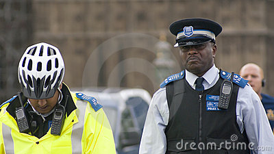 British policemen Editorial Image