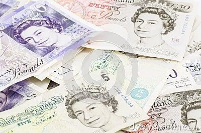 British pound Editorial Photography
