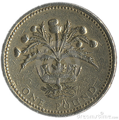 Free British Pound Coin Stock Photography - 120062