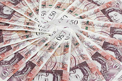 British pound sterling banknote circle