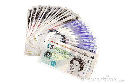 British pounds. Editorial Image