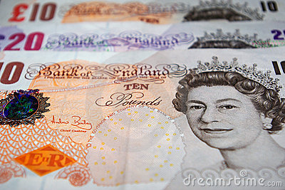 British Pounds Sterling Editorial Stock Photo