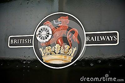 British Railways Decal Logo Editorial Photography
