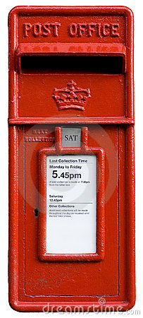 British red post box, letterbo