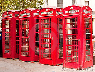 British red telephone boxes