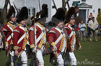 British Redcoats Editorial Stock Image