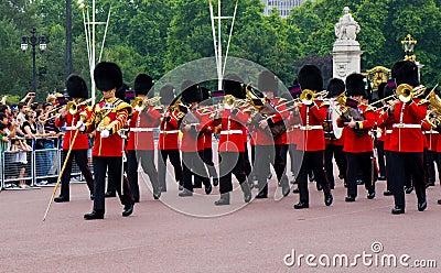 British Royal Guard of Honor Editorial Stock Photo