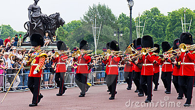 British Royal Guard of Honor Editorial Stock Photo