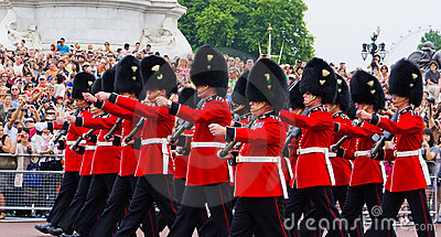 British Royal Guard of Honor Editorial Photography