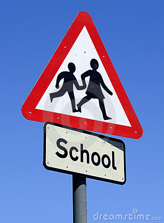 British School roadside sign.