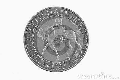 British silver jubilee coin