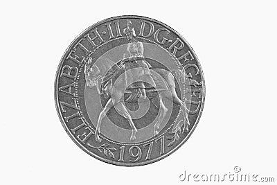 British silver jubilee coin