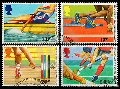 British Sporting Postage Stamp