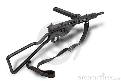 British submachine gun Sten Mk2.