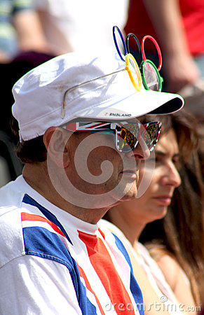 A British supporter at the Olympic Games 2012 Editorial Image