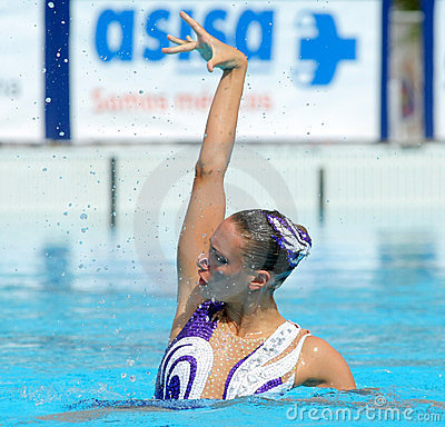 British synchro swimmer Jenna Randall Editorial Photo