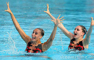 British synchro swimmers Editorial Image