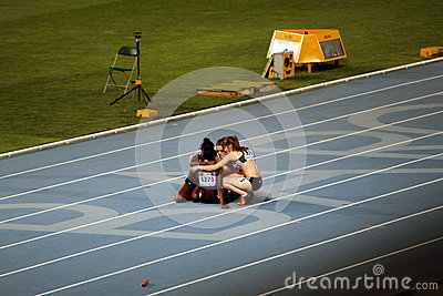 From British team after unsuccessful performance Editorial Stock Image
