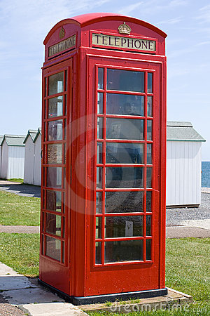 British Telephone Box Editorial Stock Image