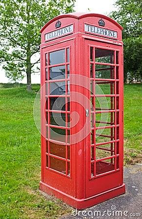 British Traditional Red Telephone Box