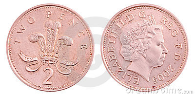 British two pence coin