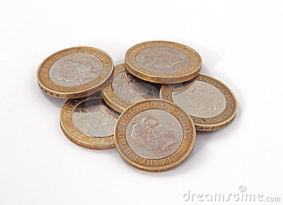 British, UK, two pound coins