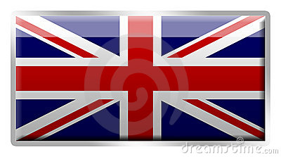British Union Jack enamelled metal badge